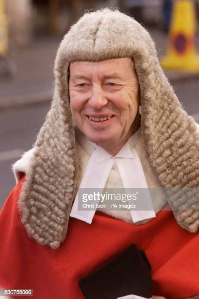 Judge Curtis arrives at Lewes Crown Court to preside over the trial of Roy William Whiting who is charged with the abduction and murder of eight year...