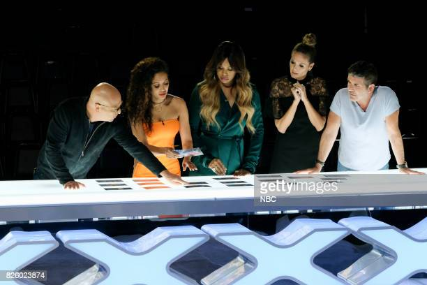 S GOT TALENT 'Judge Cuts' Episode 1210 Pictured Howie Mandel Mel B Laverne Cox Heidi Klum Simon Cowell