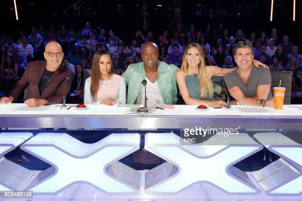 S GOT TALENT 'Judge Cuts' Episode 1211 Pictured Howie Mandel Mel B Seal Heidi Klum Simon Cowell