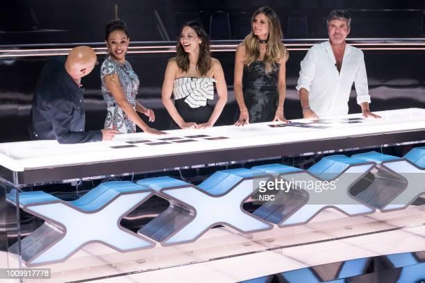 S GOT TALENT Judge Cuts Pictured Howie Mandel Mel B Olivia Munn Heidi Klum Simon Cowell