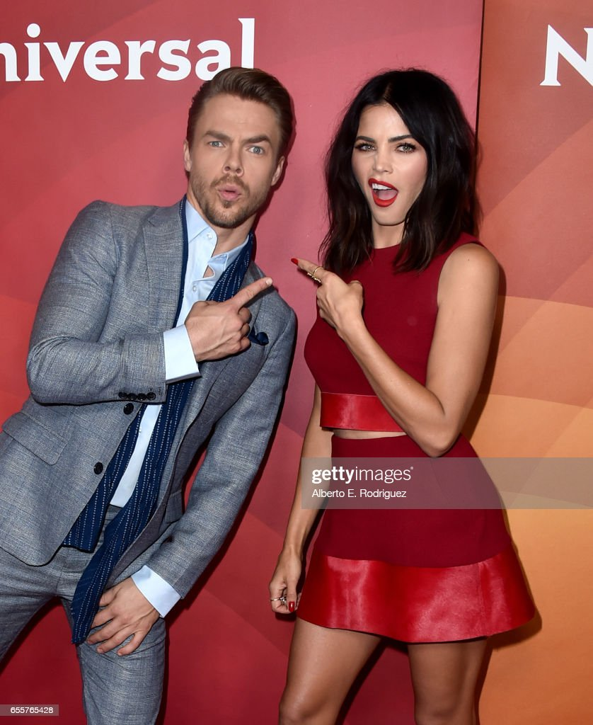 Judge Derek Hough (L) and Host Jenna Dewan Tatum of 'World Of Dance' attend the 2017 NBCUniversal Summer Press Day at The Beverly Hilton Hotel on March 20, 2017 in Beverly Hills, California.