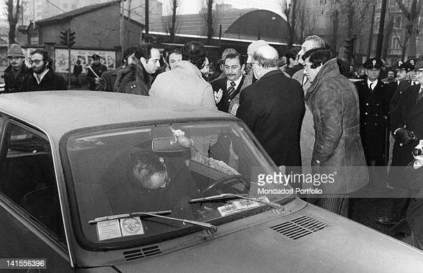 Judge Emilio Alessandrini assassinated in his car by a commando of the leftwing terrorist organisation Prima Linea Milan 29th January 1979