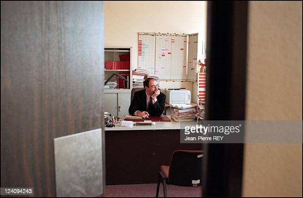 Judge Eric Halphen in his office of Trial Court of Creteil In France On January 04, 1995.