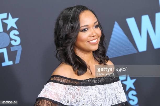 Judge Faith Jenkins arrives at the 2017 BET Awards at Microsoft Theater on June 25 2017 in Los Angeles California