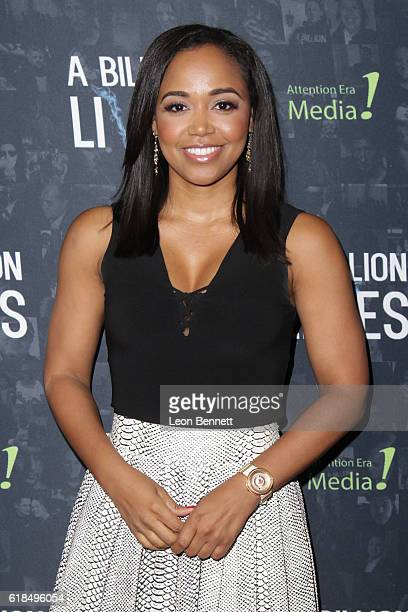 Judge Faith Jenkins arrives at the premiere of A Billion Lives at ArcLight Hollywood on October 26 2016 in Hollywood California