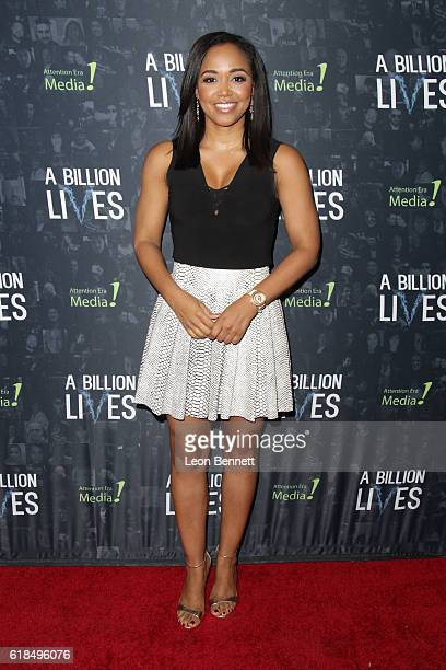 Judge Faith Jenkins arrives at the premiere of 'A Billion Lives' at ArcLight Hollywood on October 26 2016 in Hollywood California