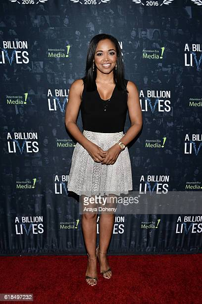 Judge Faith Jenkins attends the LA Premiere Of AwardWinning Documentary A Billion Lives at ArcLight Hollywood on October 26 2016 in Hollywood...
