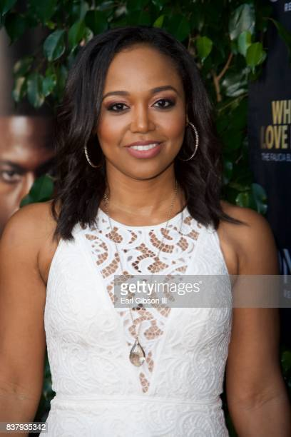 Judge Faith Jenkins attends the Premiere Of TV One's When Love Kills at Harmony Gold on August 22 2017 in Los Angeles California