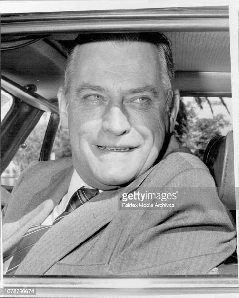 Judge Foord at his Bondi Junction home today as he prepared to leave for work October 02 1985