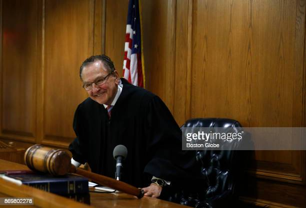 Judge Frank Caprio smiles as he concludes his morning session inside Municipal Court at the Providence Police Station in Providence Ri on Oct 30 2017...