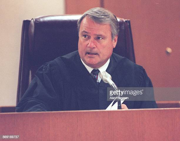Judge Frederick Jones addresses attorneys during closing argument phase of the murder trial of Diana Haun on Wendesday in his Ventura County...