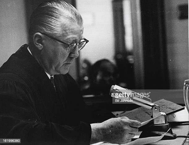 OCT 20 1962 Judge Gerald E McAuliffe reads sanity Report