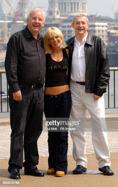 Judge Geri Halliwell with Pete Waterman left and pop svengali Louis Walsh during a photocall at LWT Studios in London to launch Granada television's...