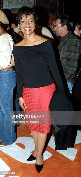 Judge Glenda Hatchett attends the Women Rock Girls and Guitars Benefit October 18 2001 in Los Angeles CA The event benefits awareness of Breast...