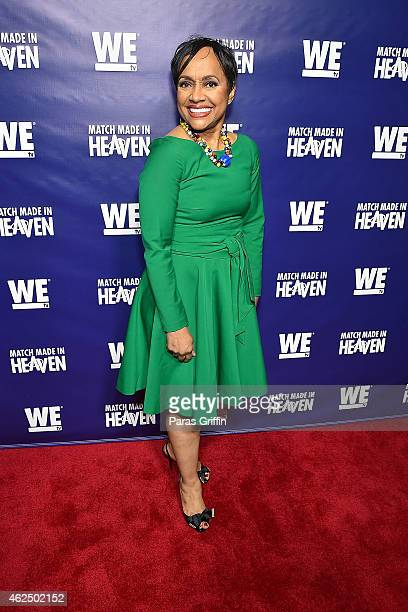 Judge Glenda Hatchett attends WE tv's Match Made In Heaven Preview Screening at the TWELVE Hotel Atlantic Station Ballroom on January 29 2015 in...