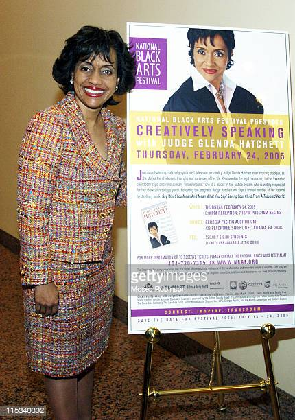 Judge Glenda Hatchett during National Black Arts Festival Presents Creatively Speaking with Judge Glenda Hatchett at Georgia Pacific Auditorium in...