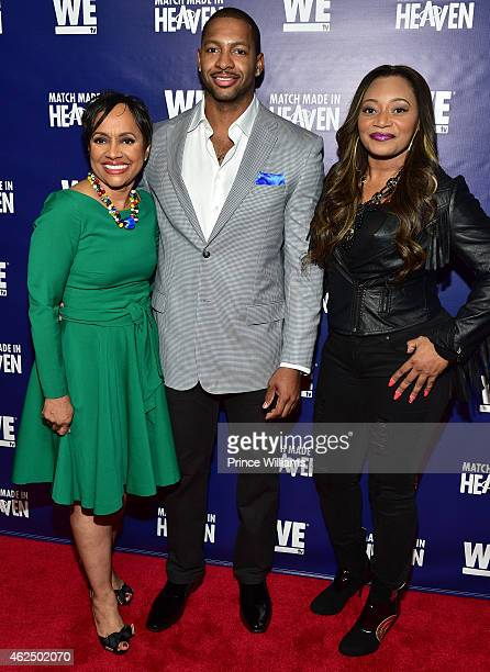 Judge Glenda Hatchett Shawn Bullard and Leanne 'Lelee' Lyons attend Match Made In Heaven screening and reception at the Twelve Hotel on January 29...