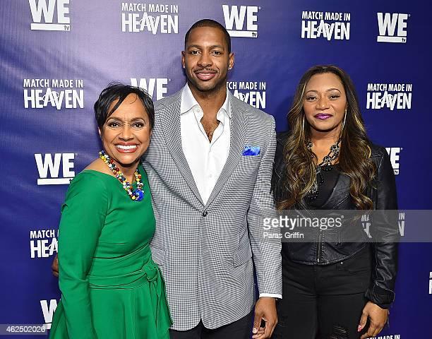 Judge Glenda Hatchett Shawn Bullard and Leanne Lelee Lyons attend WE tv's Match Made In Heaven Preview Screening at the TWELVE Hotel Atlantic Station...