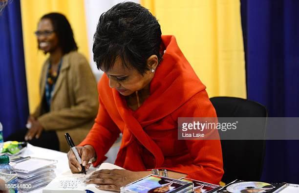 Judge Glenda Hatchett signs books at the Pennsylvania Conference For Women 2013 at Philadelphia Convention Center on November 1 2013 in Philadelphia...