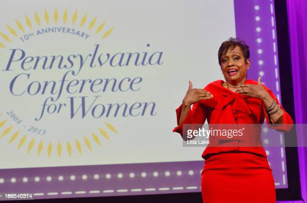 Judge Glenda Hatchett speaks on stage at the Pennsylvania Conference For Women 2013 at Philadelphia Convention Center on November 1 2013 in...
