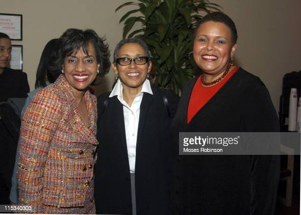 Judge Glenda Hatchett Stephanie S Hughley and Alexis Scott