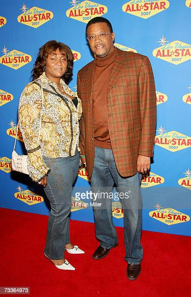 Judge Greg Mathis and his wife Linda arrive at the 2007 NBA AllStar Game at the Thomas Mack Center on February 18 2007 in Las Vegas Nevada