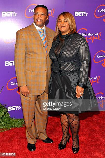 Judge Greg Mathis and his wife Linda arrive at the 9th annual BET Celebration of Gospel held at the Orpheum Theatre on December 10 2008 in Los...