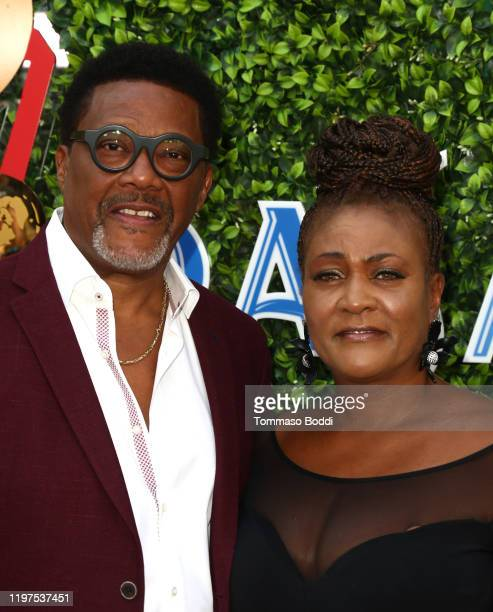 Judge Greg Mathis and Linda Mathis attend the 7th Annual Gold Meets Golden at Virginia Robinson Gardens and Estate on January 04 2020 in Los Angeles...