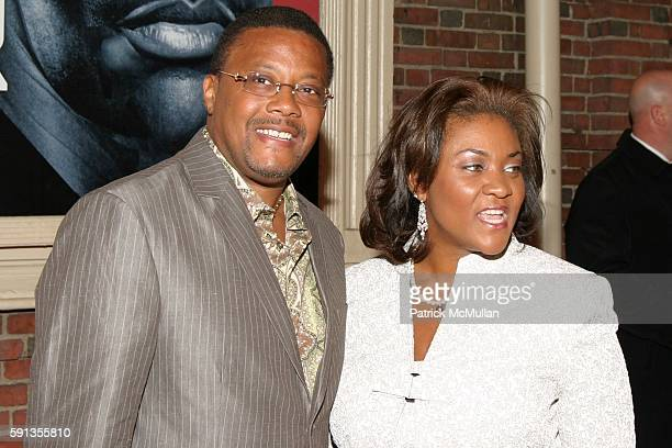 Judge Greg Mathis and Linda Mathis attends 'Julius Caesar' Opening Night on Broadway Arrivals at The Belasco Theater Gotham Hall on April 3 2005 in...
