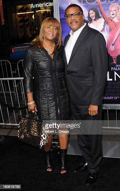 Judge Greg Mathis and wife arrive for the Joyful Noise Los Angeles Premiere held at Grauman's Chinese Theater on January 9 2012 in Hollywood...