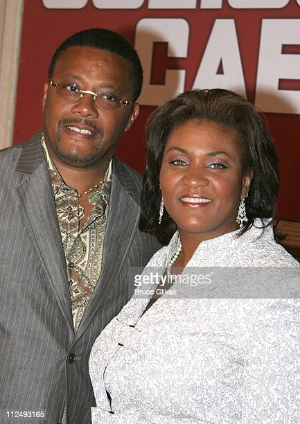 Judge Greg Mathis and wife during Julius Caesar on Broadway Arrivals April 3 2005 at The Belasco Theater in New York City New York United States