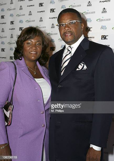Judge Greg Mathis and wife during Turks and Caicos International Film Festival Launch Party Inside at Hollwood American Legion Post in Los Angeles...