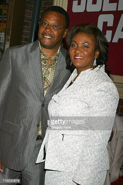 Judge Greg Mathis and wife Linda during Julius Caesar Broadway Opening Night Red Carpet Arrivals at The Belasco Theater in New York City New York...