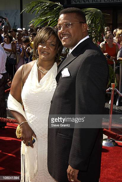 Judge Greg Mathis and wife Linda during The 2nd Annual BET Awards Arrivals at The Kodak Theater in Hollywood California United States