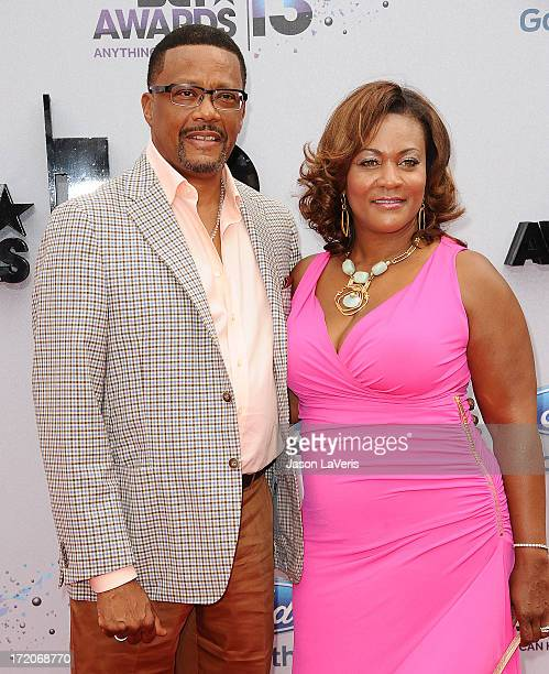 Judge Greg Mathis and wife Linda Reese attends the 2013 BET Awards at Nokia Theatre LA Live on June 30 2013 in Los Angeles California