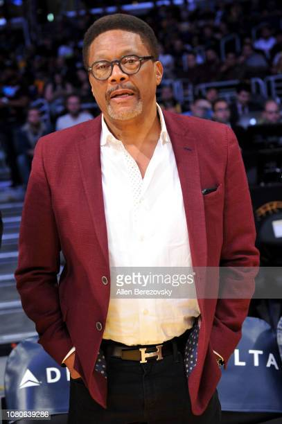 Judge Greg Mathis attends a basketball game between the Los Angeles Lakers and the Miami Heat at Staples Center on December 10 2018 in Los Angeles...