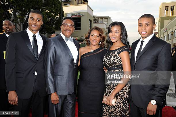 Judge Greg Mathis wife Linda Reese and family attend the 45th NAACP Image Awards presented by TV One at Pasadena Civic Auditorium on February 22 2014...
