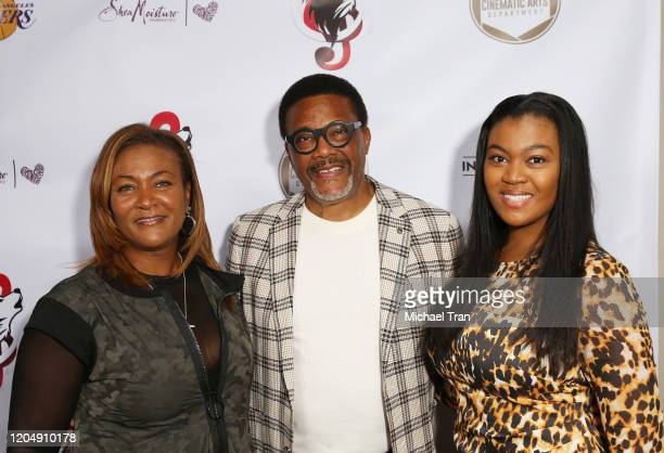 Judge Greg Mathis with his wife Linda Reese and their daughter attend the Tricky and Terk Visions presents The Annual Oscars Weekend Influencers...