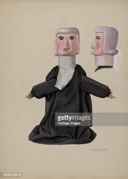 Judge Hand Puppet, circa 1936. Artist Beverly Chichester.