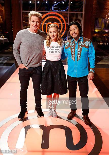 Judge / host Gordon Ramsay judge Christina Tosi and guest judge Ed Lee in the allnew A Piece of Cake episode of MASTERCHEF airing Wednesday July 27...