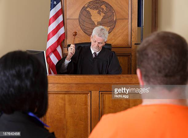 judge in a courtroom - sentencing stock pictures, royalty-free photos & images