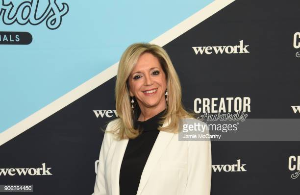 Judge inventor and entrepreneur Joy Mangano attends as WeWork presents Creator Awards Global Finals at the Theater At Madison Square Garden on...