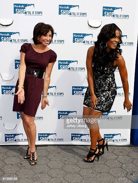 Judge Jeanine Pirro and Actress Robin Givens promotes Domestic Violence Awareness Month in Union Square on October 8 2009 in New York City