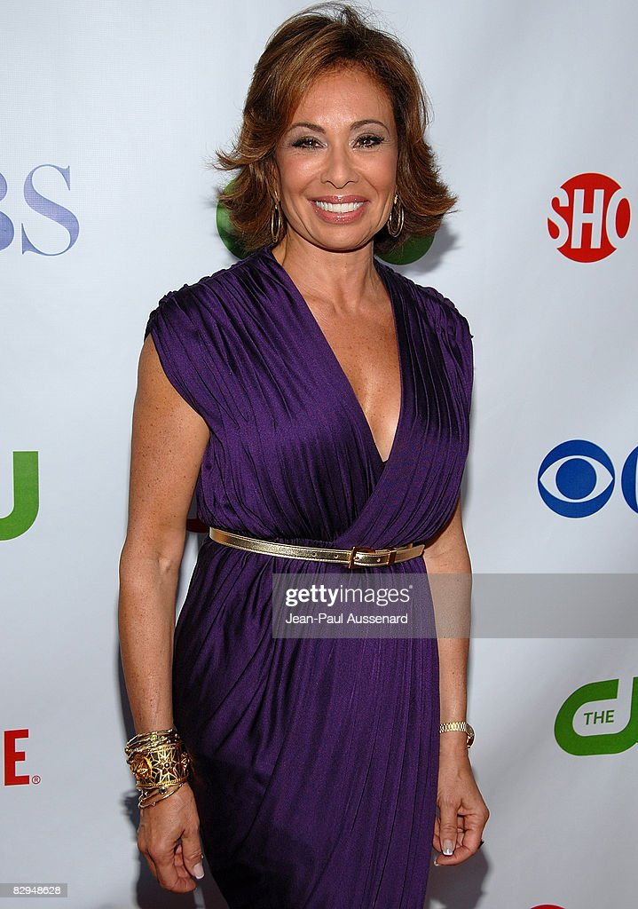 Judge Jeanine Pirro arrives at the CBS, CW and Showtime Press Tour Stars Party held at Boulevard 3 on July 18th, 2008 in Hollywood, California.