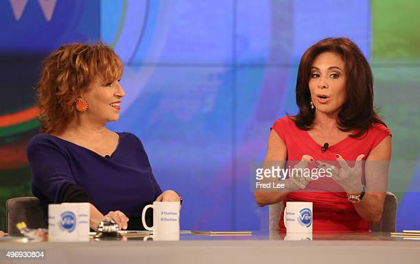 THE VIEW Judge Jeanine Pirro is a guest on THE VIEW 11/12/15 airing on the Walt Disney Television via Getty Images Television Network