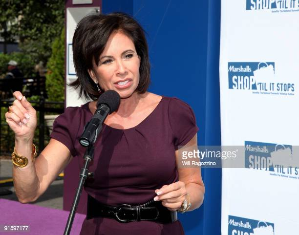 Judge Jeanine Pirro promotes Domestic Violence Awareness Month in Union Square on October 8 2009 in New York City