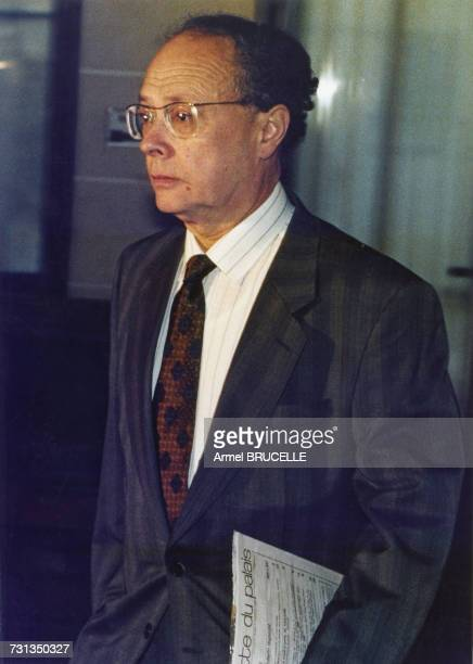 Judge JeanPaul Martin who has taken over from Maurice Simon in the case of murdered four yearold boy Grégory Villemin Dijon France 23rd September 1990