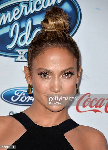 Judge Jennifer Lopez attends FOX's American Idol XIII finalists party at Fig Olive Melrose Place on February 20 2014 in West Hollywood California