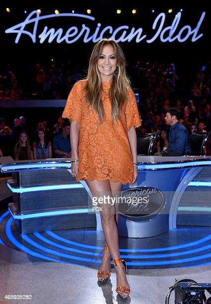 Judge Jennifer Lopez onstage at FOX's American Idol XIV Top 12 Revealed on March 11 2015 in Hollywood California