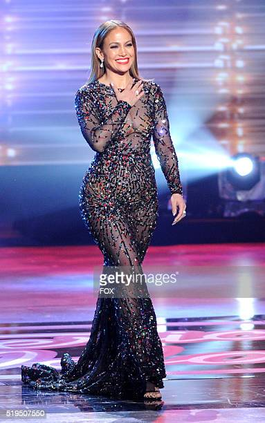 Judge Jennifer Lopez walks onstage at FOX's American Idol Season 15 on April 6 2016 at the Dolby Theatre in Hollywood California